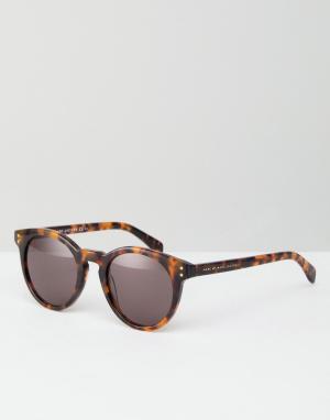Marc By Jacobs Солнцезащитные очки с черепаховой оправой. Цвет: коричневый