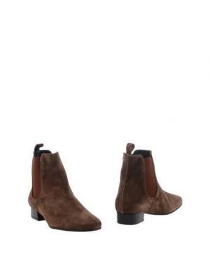 Полусапоги и высокие ботинки FARRUTX. Цвет: какао