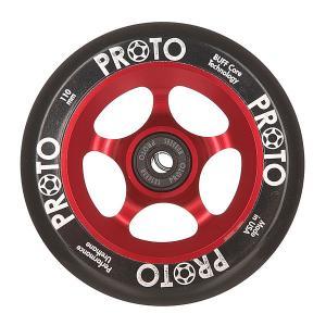 Колесо для самоката  110 Мм Slider Black On Red Proto. Цвет: черный,бордовый