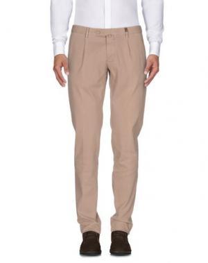 Повседневные брюки GIO ZUBON. Цвет: бежевый