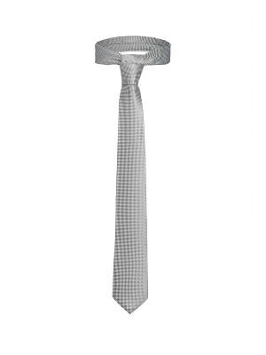 Стильный галстук Линкольн для адвоката в мелкий ромб Signature A.P.. Цвет: серый, белый