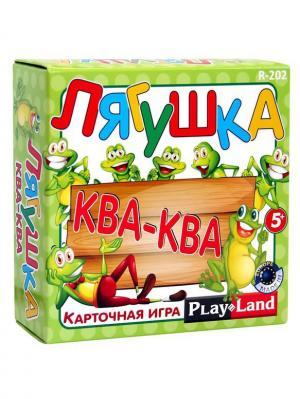 Карточная игра  Лягушка Ква-ква PLAY LAND. Цвет: зеленый, красный