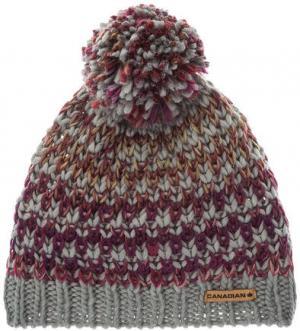 Трикотажная шапка с подкладкой CANADIAN. Цвет: фиолетовый
