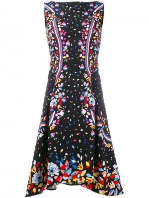 Платье с узором без рукавов Peter Pilotto. Цвет: чёрный