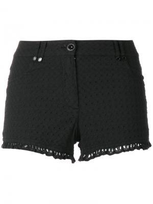 Frill trim shorts Plein Sud Jeanius. Цвет: чёрный