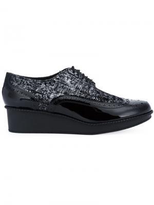Туфли на шнуровке Viper Robert Clergerie. Цвет: чёрный