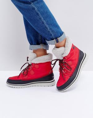 Sorel Непромокаемые ботинки Cozy. Цвет: красный