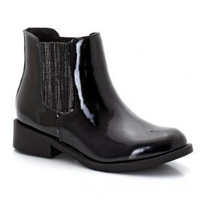 Ботинки-челси лакированные R kids. Цвет: черный лак