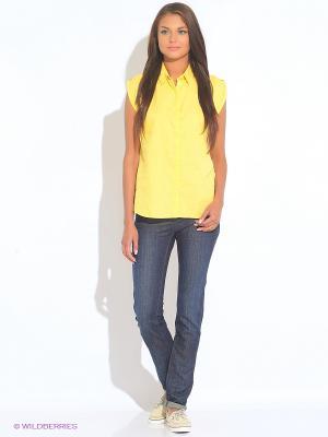 Блузка TIMBERLAND. Цвет: желтый