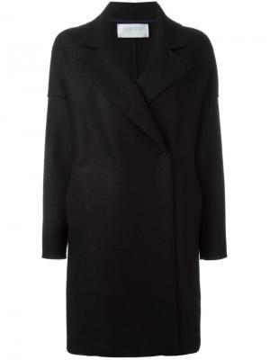 Пальто с объемными лацканами Harris Wharf London. Цвет: чёрный