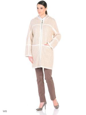 Пальто женское Lea Vinci. Цвет: бежевый