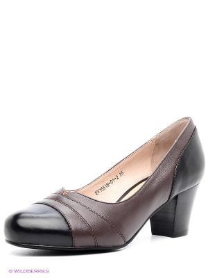 Туфли EVITA. Цвет: черный, коричневый