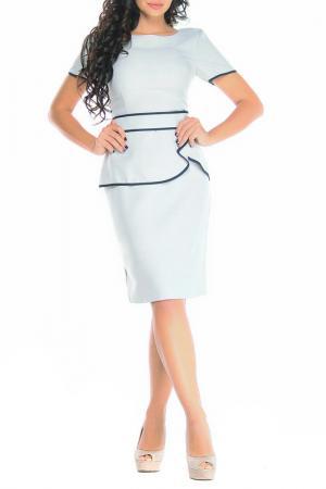 Платье Laura Bettini. Цвет: бело-серый