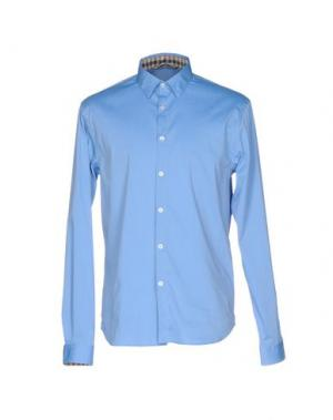 Pубашка AQUASCUTUM. Цвет: лазурный