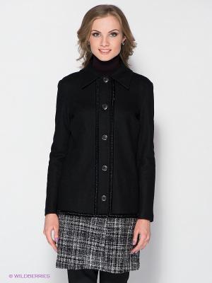 Пальто FRENCH HINT. Цвет: черный, белый