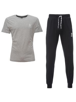Комплект: брюки, футболка Freddy. Цвет: черный