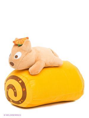 Набор Плед с подушкой Pets@work. Цвет: желтый, светло-коричневый