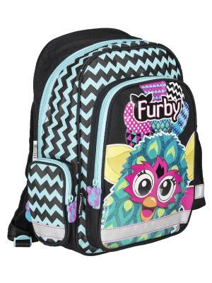 Рюкзак с эргономической EVA-спинкой. Furby. Цвет: голубой, черный