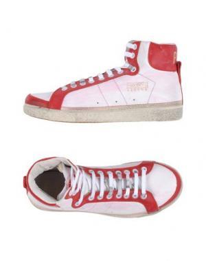 Высокие кеды и кроссовки PANTOFOLA D'ORO. Цвет: красно-коричневый