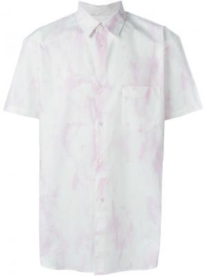 Рубашка с короткими рукавами Comme Des Garçons Shirt. Цвет: розовый и фиолетовый