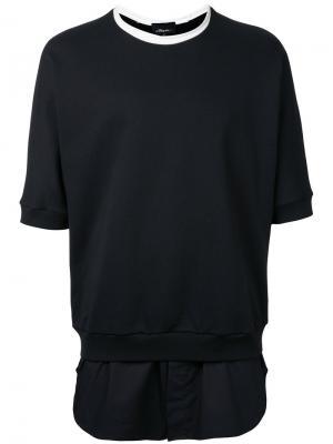 Удлиненная футболка 3.1 Phillip Lim. Цвет: чёрный