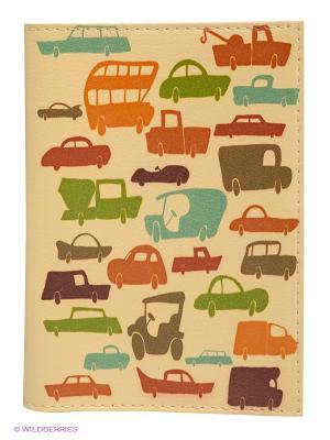 Обложка для паспорта Час-пик Mitya Veselkov. Цвет: светло-желтый, оранжевый, зеленый