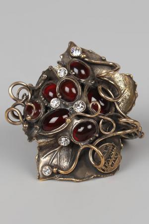 Кольцо для салфеток I Pavoni. Цвет: красный