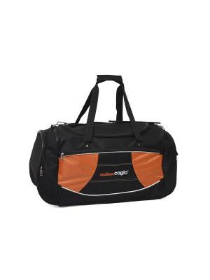 Сумка спортивная 149908 CAGIA. Цвет: оранжевый