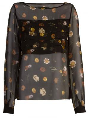 Sheer floral blouse Vitorino Campos. Цвет: чёрный