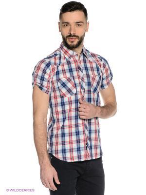 Рубашка Mavango. Цвет: молочный, красный, синий