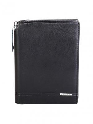 Кошелёк с отделением для паспорта и ручка Classic Century кожа наппа, гладкая Cross. Цвет: черный