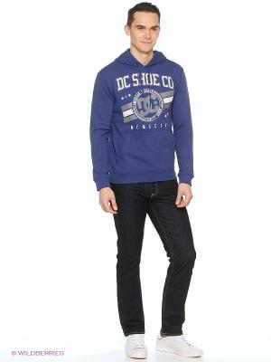 Худи DC Shoes. Цвет: темно-синий, серый, темно-фиолетовый