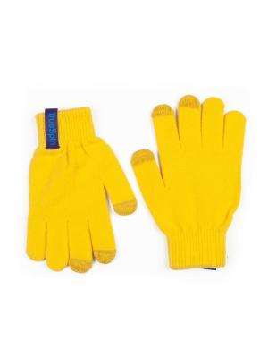 Перчатки TRUESPIN Touch Gloves True Spin. Цвет: желтый