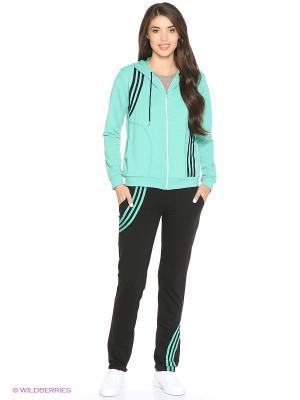 Костюм спортивный женский (джемпер, брюки) MARSOFINA. Цвет: зеленый, черный