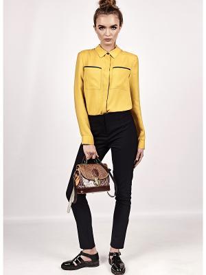 Блуза BURLO. Цвет: горчичный