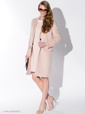 Пальто Sweet Me. Цвет: бледно-розовый
