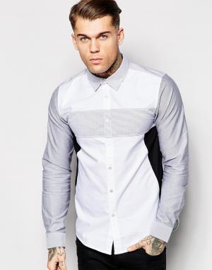Izzue Рубашка с полосатыми вставками. Цвет: черный