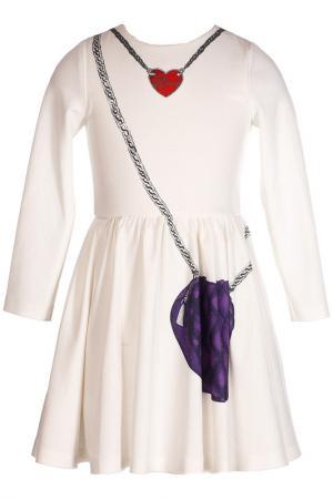 Платье LOVE MADE. Цвет: белый