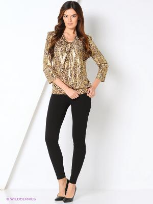Блуза BALSAKO. Цвет: золотистый