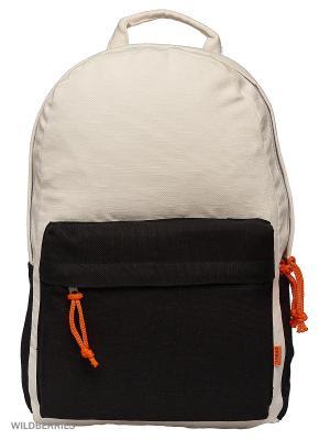 Городской рюкзак TIMBAG. Цвет: черный, белый, оранжевый