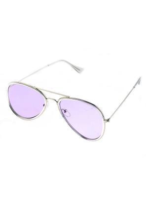 Солнцезащитные очки. Bijoux Land. Цвет: серебристый