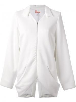 Пиджак свободного кроя с застёжкой-молнией And Re Walker. Цвет: белый