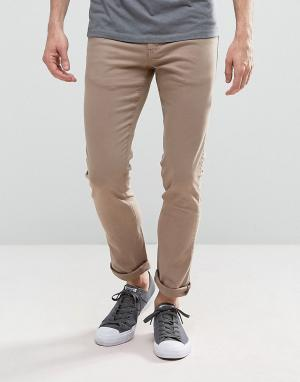 Loyalty & Faith Зауженные джинсы песочного цвета с легкой потертой отделкой an. Цвет: светло-бежевый