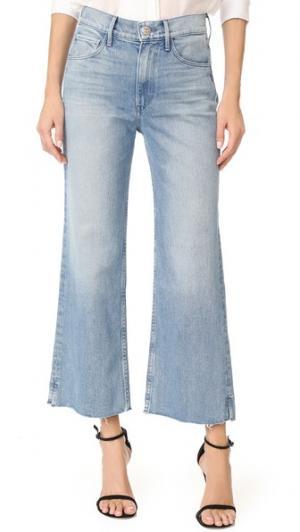 Широкие укороченные джинсы Shelter 3x1. Цвет: розовый