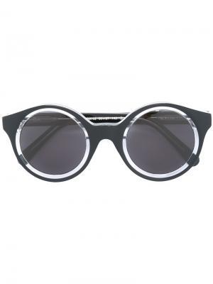 Солнцезащитные очки Isa Kyme. Цвет: чёрный
