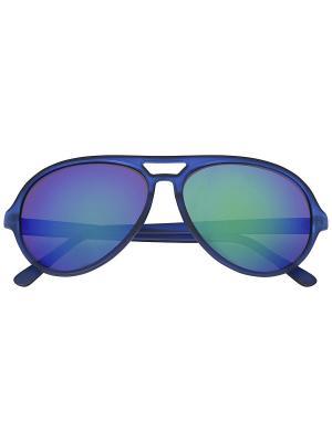 Солнцезащитные очки Oodji. Цвет: синий
