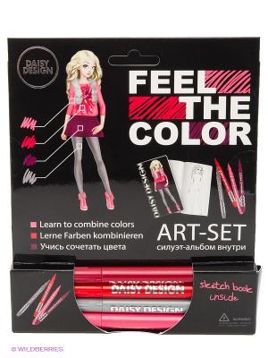 Альбом Pretty Pink of FEEL THE COLOR Daisy Design. Цвет: красный