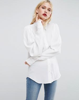 ASOS Блузка с oверсайз-рукавами. Цвет: белый