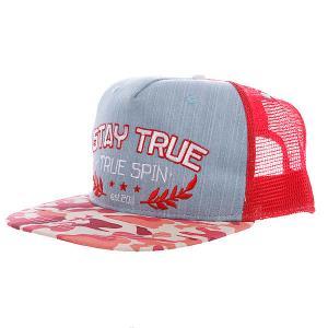 Бейсболка с сеткой  Air Force Trucker Cap Red TrueSpin. Цвет: красный,розовый