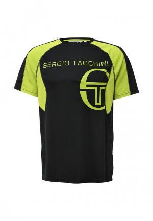 Футболка Sergio Tacchini. Цвет: черный